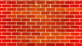 Terracotta colored brick wall Royalty Free Stock Images