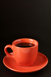 Terracotta cup of coffee Royalty Free Stock Photography