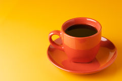 Terracotta cup of coffee Stock Photos