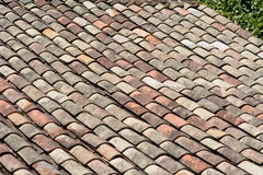 Terracotta curved roof tiles Stock Image