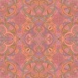 Terracotta decorative seamless pattern. Stock Photo