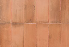 Terracotta floor square tile background texture. Royalty Free Stock Photos