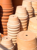 Terracotta Flower Pots Stock Photos