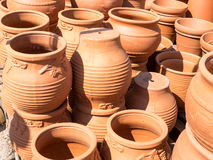 Terracotta Flower Pots Stock Photography