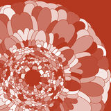 Terracotta flower. Simple flower terracotta color in graphic style Royalty Free Illustration