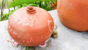 Terracotta for gardens decoration Royalty Free Stock Image