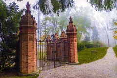 Terracotta Gate. One of the many statues located in Guildwook Park in Scarborough Stock Photos