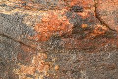 Terracotta granite surface Royalty Free Stock Photo