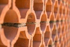 Terracotta honeycomb wall Stock Photo