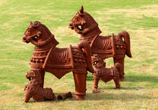 Terracotta horses Royalty Free Stock Image