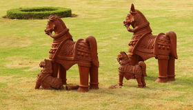 Terracotta horses Royalty Free Stock Images