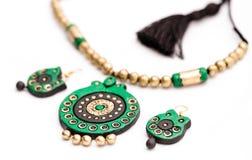 Terracotta Jewelry Stock Photo