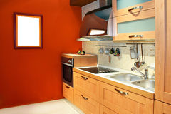 Terracotta kitchen stock photos