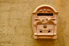 Terracotta mailbox Royalty Free Stock Photo