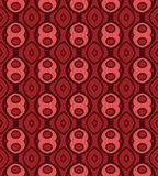 Terracotta pattern with rounds_1 Stock Image
