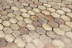 Terracotta paving tile Royalty Free Stock Images