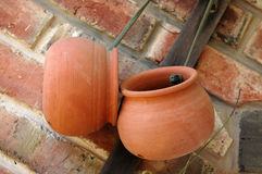 Terracotta pots Royalty Free Stock Images