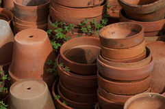 Terracotta pots. Clay vases. Royalty Free Stock Image