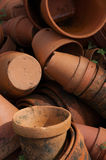 Terracotta pots. Clay vases. Stock Image