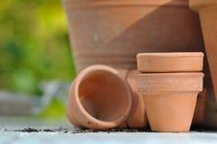 Terracotta pots Stock Photos