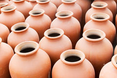 Terracotta pots, Indian handicrafts fair at Kolkata Stock Image
