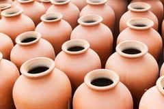 Terracotta pots, Indian handicrafts fair at Kolkata Stock Image
