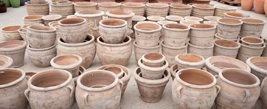 Terracotta Pots Stock Image