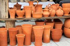 Terracotta pottery Royalty Free Stock Photo