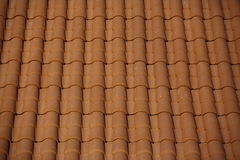 Terracotta Roof Stock Photo