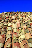Terracotta roof on blue summer sky Royalty Free Stock Photography