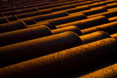 Terracotta roof tiles Royalty Free Stock Photo