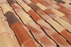 Terracotta roof tiles. On a Mediterranean building Royalty Free Stock Photography