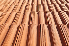 Terracotta Roof Tiles Stock Images