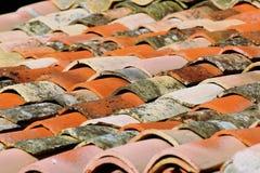 Terracotta roof tiles Stock Photo