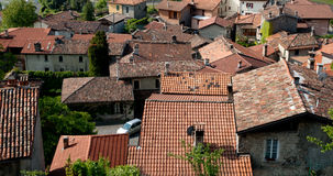 Terracotta rooftops of Italian village. Stock Photo