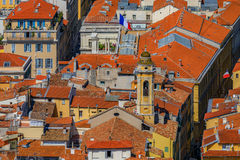 Terracotta rooftops of the Old Town, Vieille Ville in Nice on th Stock Image
