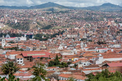 Terracotta rooftops at Sucre city in Bolivia Stock Image