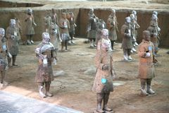 Terracotta sculptures depicting the armies of Qin Shi Huang, the first Emperor of China Stock Photos