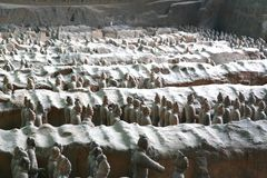 Terracotta sculptures depicting the armies of Qin Shi Huang, the first Emperor of China stock photo