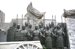 Terracotta sculptures depicting the armies of Qin Shi Huang, the first Emperor of China. The terracotta sculptures depicting the armies of Qin Shi Huang, the Stock Photo