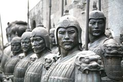 Terracotta sculptures depicting the armies of Qin Shi Huang, the first Emperor of China stock images
