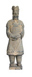Terracotta Soldier. Soldier of the Chinese terracotta army in Xian isolated over white Royalty Free Stock Photography