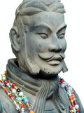Terracotta Soldier.Isolated. Terracotta soldier of ancient chiese emporer Qin Shihuang, who lived in ancient chinese chin dynasty.Isolated Royalty Free Stock Photo