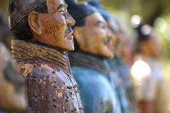 Terracotta soldiers. Figures of Chinese terracotta soldiers Stock Photo