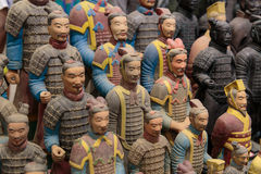 Terracotta Soldiers in Color. Statues of Terracotta Warrior in Color for sale stock photography