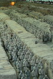Terracotta Soldiers in Xi`an China Stock Photos