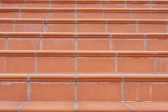 Terracotta Stairs with Calcium Silt Royalty Free Stock Photo