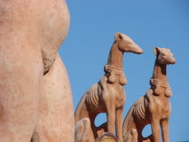 Terracotta statuettes Royalty Free Stock Photo