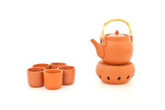 Terracotta tea set Royalty Free Stock Image