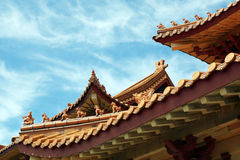 Terracotta tile roof Royalty Free Stock Photos
